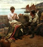Walter Langley - A Cornish Idyll