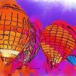 """Subtle Abstract Hot Air Balloons"" by Kirtdtisdale"