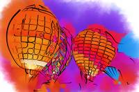 Subtle Abstract Hot Air Balloons