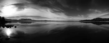 Nevada Beach Panorama B&W