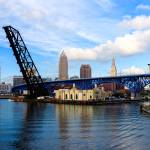"""Cleveland Skyline from Across the River"" by cyorkphoto"