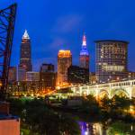 """Cleveland Skyline from the Flats"" by cyorkphoto"
