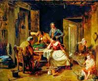 Thomas Faed - A Game of Draughts