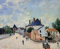 Street in Moret (Porte de Bourgogne from across th