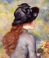 Pierre-Auguste Renoir, Young Girl with a Bouquet o