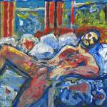 """Nude man reclined"" by BeaconArtWorksCorporation"