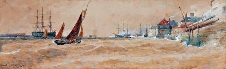 Thomas Bush Hardy - Portsmouth Harbour 1891