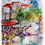 """""""Provence Market Summer Showers"""" by GinetteCallaway"""