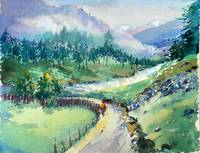 Watercolor - Green Valley