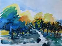 Watercolor - Scenic River