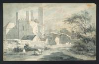 Samuel Alken Senior A Gothic  Abbey with Four Towe