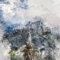 Edinburgh Castle Edinburgh Scotland Art Prints & Posters by Ann Garrett