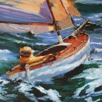 Just Me and My Boat Art Prints & Posters by Beth Charles