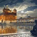 """Golden Temple at Night stage 49"" by bhagatsingh"