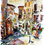 """Old Town Assisi Italy Watercolor"" by GinetteCallaway"