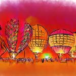 """Hot Air Balloons In Red"" by Kirtdtisdale"