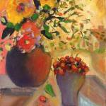 """DOOR COUNTY FLORAL AND CHERRIES 500 DPI"" by karenjlee"