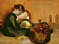 Marianne Stokes - Polishing Pans 1887