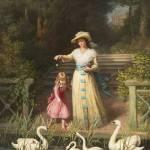 """Philip Richard Morris - Feeding the Swans 1887"" by motionage"