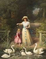 Philip Richard Morris - Feeding the Swans 1887
