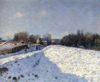 The Effect of Snow at Argenteuil, 1874
