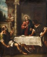 Venetian School, 18th century, Christ at Emmaus
