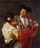 Mary Cassatt, Drink with bullfighter, matador