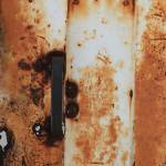 """Handle on a Rust Covered Door"" by rhamm"