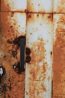 Handle on a Rust Covered Door