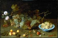 Still Life with Grapes on a Platter Isaak Soreau (