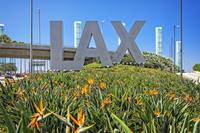 LAX Los Angeles Airport Sign