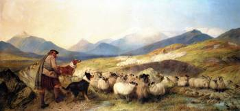Richard Ansdell - Sheep Gathering in Glen Spean 18