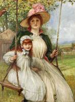 Robert Walker Macbeth - Mother and Daughter on a S