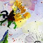 """Dandelion Fiesta2 Modern Floral Art"" by GinetteCallaway"