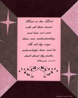 Metallic Star Proverbs 3:5-6