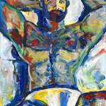 """""""Abstract  male red white and blue bear study"""" by BeaconArtWorksCorporation"""