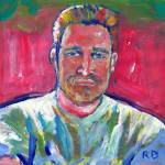 """Summer Picnic Painting of a man"" by BeaconArtWorksCorporation"