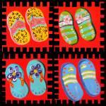 """""""Flip Flops Times Four"""" by EloiseArt"""