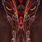"""ABSTRACT LIGHT STREAKS #104 - The Dragon"" by nawfalnur"