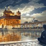 """""""Golden Temple at Night stage 53"""" by bhagatsingh"""