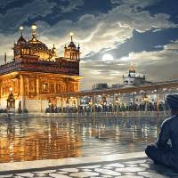 Golden Temple - Meditations Under Moonlight Art Prints & Posters by Bhagat Bedi