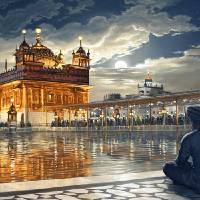 Golden Temple - Meditations Under Moonlight Art Prints & Posters by Bhagat Bedi