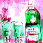 """Absinthe Watercolor with Digital Spanking"" by GinetteCallaway"