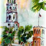 """Charleston St Michaels Church Palms"" by GinetteCallaway"