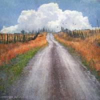 gravel road fence line by r christopher vest