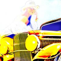 Golden Girl Makes with The Look Art Prints & Posters by Chas Sinklier