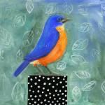 """Bluebird Dotted Black Box"" by BlendaStudio"