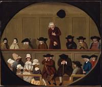Quaker Meeting, Unidentified artist, British, 18th