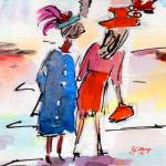 """""""Hat Ladies Part of Charleston Painting"""" by GinetteCallaway"""