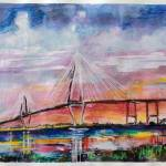 """Arthur Ravenel Jr Bridge Charleston"" by GinetteCallaway"